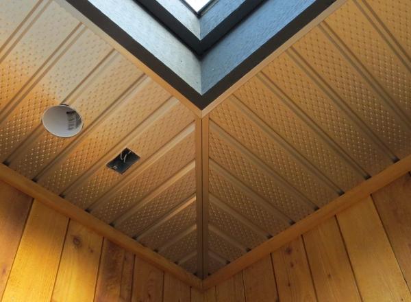 Aluminum soffit installation